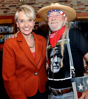 Almost Willie with Arizona Governor Jan Brewer