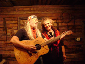 almost willie and miss kitty on stage